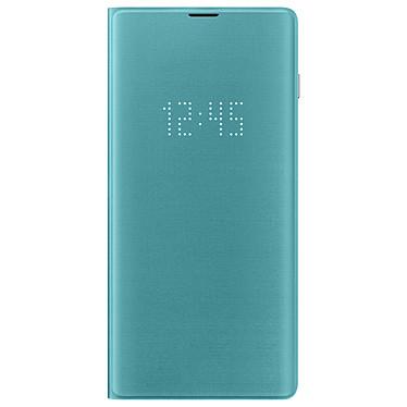 Samsung LED View Cover Verde Galaxy S10+ Maletín con indicador LED de fecha/hora para el Samsung Galaxy S10+