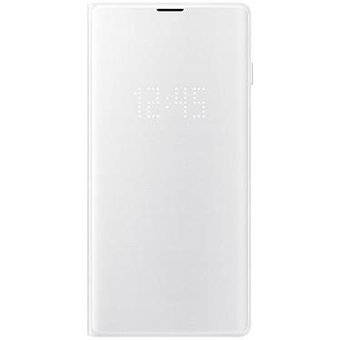 Samsung LED View Cover Blanco Galaxy S10 Maletín con indicador LED de fecha/hora para el Samsung Galaxy S10