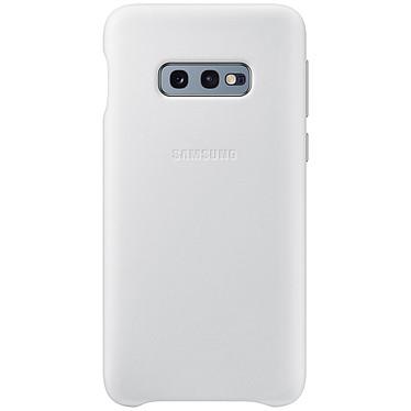 Samsung Coque Cuir Blanc Samsung Galaxy S10e Coque en cuir véritable pour Samsung Galaxy S10e