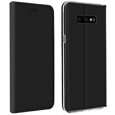 Akashi Folio Cartera Negro Galaxy S10e Maletín con tarjetero para Samsung Galaxy S10e