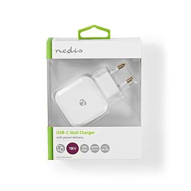 Nedis Chargeur mural USB-C 18W (Blanc) pas cher