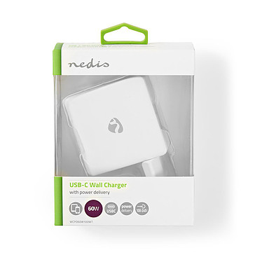 Nedis Chargeur mural USB-C 60W (Blanc) pas cher