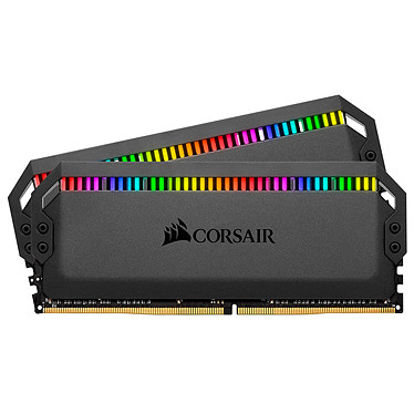 Corsair Dominator Platinum RGB 16 Go (2x 8Go) DDR4 3200 MHz CL16 Kit Dual Channel 2 barrettes de RAM DDR4 PC4-25600 - CMT16GX4M2C3200C16