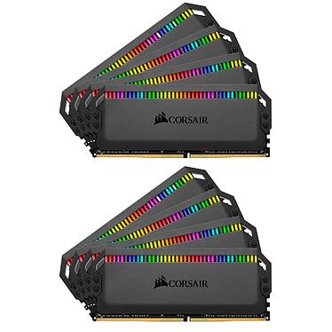 Corsair Dominator Platinum RGB 128 Go (8x 16 Go) DDR4 3200 MHz CL16 Kit Quad Channel 8 barrettes de RAM DDR4 PC4-25600 - CMT128GX4M8C3200C16 (garantie à vie par Corsair)