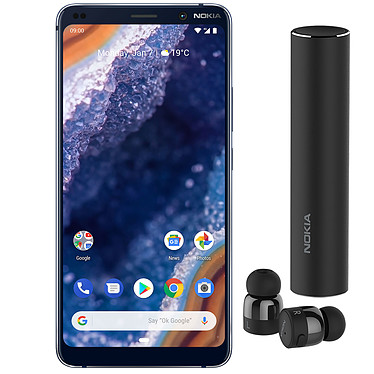 Nokia 9 PureView Bleu + True Wireless Earbuds