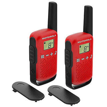 Motorola TALKABOUT T42 Twin Pack Rouge Pack de 2 Talkies-Walkies PMR446 portée 4 km