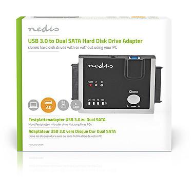 Nedis USB 3.0 to Dual SATA Hard Disk Driver Adapter pas cher