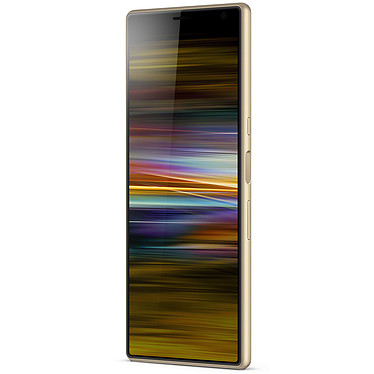 "Sony Xperia 10 Plus Or (4 Go / 64 Go) Smartphone 4G-LTE Advanced Dual SIM - Snapdragon 636 8-Core 1.8 GHz - RAM 4 Go - Ecran tactile 6.5"" 1080 x 2520 - 64 Go - NFC/Bluetooth 5.0 - 3000 mAh - Android 9.0"