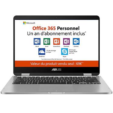 """ASUS VivoBook Flip TP401MA-BZ067TS Intel Pentium Silver N5000 4 Go eMMC 64 Go 14"""" LED HD Tactile Wi-Fi AC/Bluetooth Webcam Windows 10 Famille en mode S (garantie constructeur 2 ans)"""