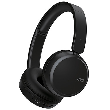 JVC HA-S65BN Noir Casque supra-auriculaire fermé sans fil Bluetooth avec réduction de bruit, télécommande et micro