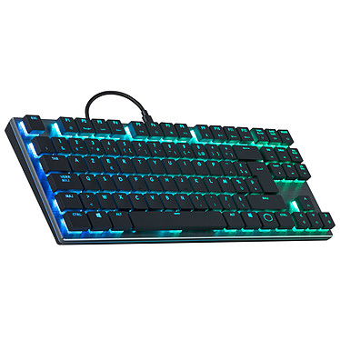 Cooler Master SK630 (Cherry MX RGB LP Red) Clavier slim gaming compact - Interrupteurs mécaniques demi-hauteur rouges Cherry MX RGB Low Profile Red - Rétro-éclairage RGB - AZERTY Français