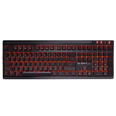 G.Skill RIPJAWS KM570 MX Red - Switches Cherry MX Silver Clavier pour gamer avec rétroéclairage rouge (AZERTY, Français)