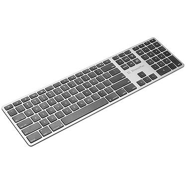 XtremeMac Keyboard Bluetooth Plus Clavier ultra fin sans fil Bluetooth - touches chiclet plates silencieuses - compatible Mac et PC - AZERTY Français