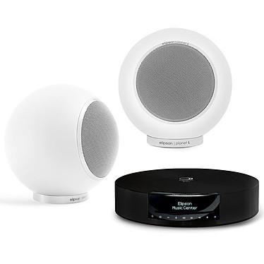 Elipson Music Center BT HD + Planet L Mercury Ice Ampli-tuner 2 x 120 Watts CD/USB Bluetooth aptX HD + Google Chromecast Audio + Enceinte bibliothèque compacte (par paire)