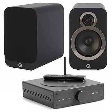 Elipson MC Mini + Q Acoustics 3020i Noir