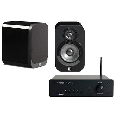 Tangent Ampster BT + Q Acoustics 3010 Noir laqué