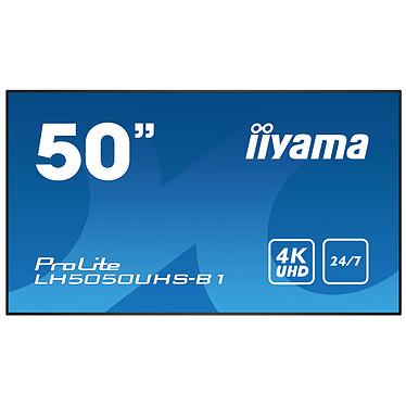 "iiyama 50"" LED - ProLite LH5050UHS-B1 3840 x 2160 pixels 16:9 - AMVA3 - 4000:1 - 8 ms - HDMI/DisplayPort - Ethernet - Haut-parleurs intégrés - 24/7 - Noir"