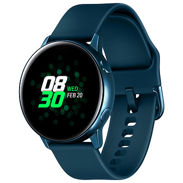 "Samsung Galaxy Watch Active Vert Montre connectée - certifiée IP68 - RAM 768 Mo - écran Super AMOLED 1.1"" - 4 Go - NFC/Wi-Fi/Bluetooth 4.2 - 230 mAh - Tizen OS 4.0"