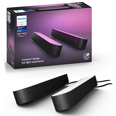 Philips Hue Play Pack x2 Noir pas cher