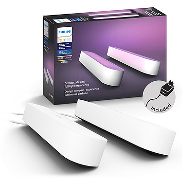 Philips Hue Play Pack x2 Blanc pas cher