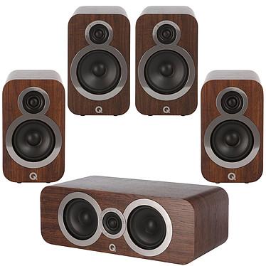 Q Acoustics 3090Ci + 3010i + 3020i Noyer Pack d'enceintes 5.0