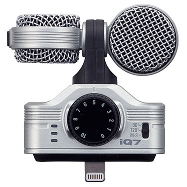Zoom iQ7 Micrófono de condensador estéreo de centro/lateral con conector de relámpago para dispositivos iOS