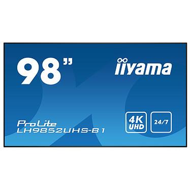 "iiyama 98"" LED - ProLite LH9852UHS-B1 3840 x 2160 pixels 16:9 - IPS - 1300:1 - 8 ms - HDMI/VGA/DisplayPort - Haut-parleurs intégrés - 24/7 - Noir"