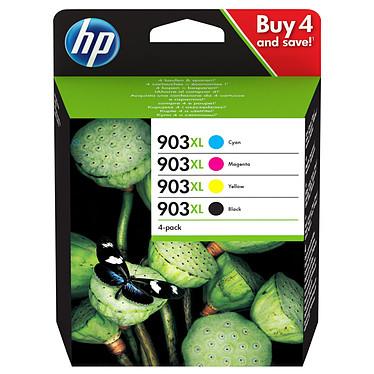 HP 903XL Inkjet Cartridge - 3HZ51AE Pack de 4 cartouches d'encre grande capacité noire / cyan / magenta / jaune