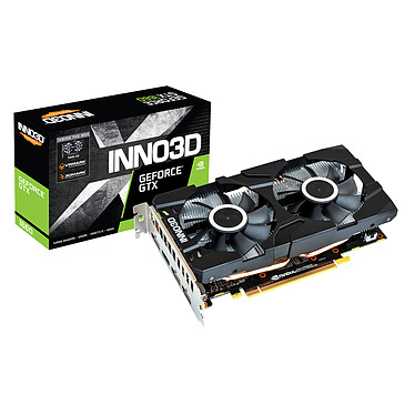 INNO3D GeForce GTX 1660 TWIN X2 6 Go GDDR5 - HDMI/Tri DisplayPort - PCI Express (NVIDIA GeForce GTX 1660)