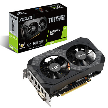 ASUS GeForce GTX 1660 TUF-GTX1660-O6G 6 Go GDDR5 - HDMI/DisplayPort/DVI - PCI Express (NVIDIA GeForce GTX 1660)