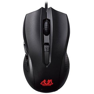ASUS Cerberus Mouse Souris filaire pour gamer - ambidextre - capteur optique 2500 dpi - 6 boutons - rétro-éclairage