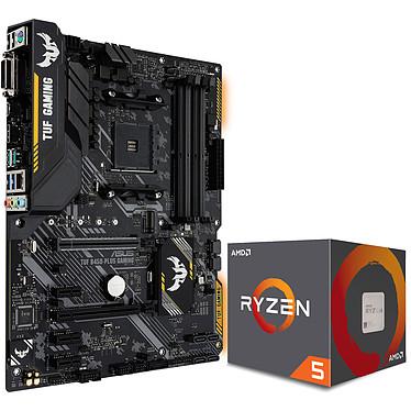 Kit Upgrade PC AMD Ryzen 5 2600X ASUS TUF B450-PLUS GAMING Carte mère ATX Socket AM4 AMD B450 + CPU AMD Ryzen 5 2600X Wraith Spire Edition (3.6 GHz)