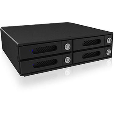 """RAIDON IT4300-U6 Backplane pour 4 disques durs 2.5"""" SAS/SATA (dans 1 baie 5.25"""") - interface hôte MiniSAS 12 Gbit/s"""