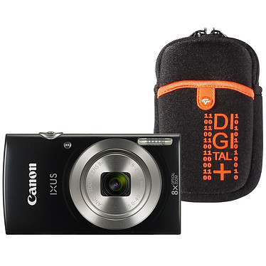 Canon IXUS 185 Noir + Vanguard Beneto 6 Orange