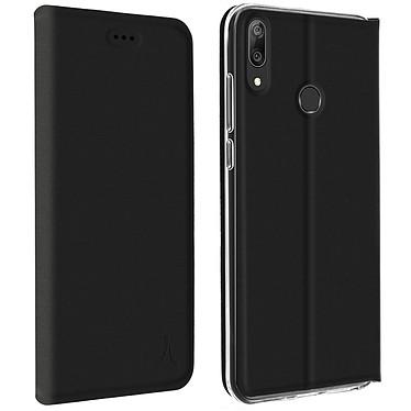 Akashi Etui Folio Porte Carte Noir Huawei Y7 2019