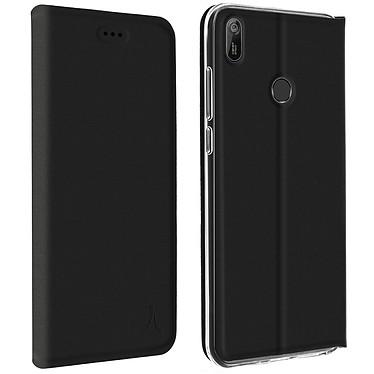 Akashi Etui Folio Porte Carte Noir Huawei Y6 2019 Etui folio avec porte carte pour Huawei Y6 2019