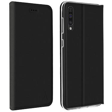 Akashi Etui Folio Porte Carte Noir Galaxy A50 Etui folio avec porte carte pour Samsung Galaxy A50
