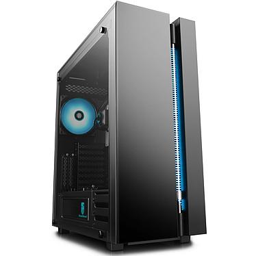 DeepCool Gamer Storm New Ark 90MC Boîtier Grand Tour Noir avec fenêtre en verre trempé et kit de refroidissement liquide RGB (watercooling) pour processeur Intel / AMD