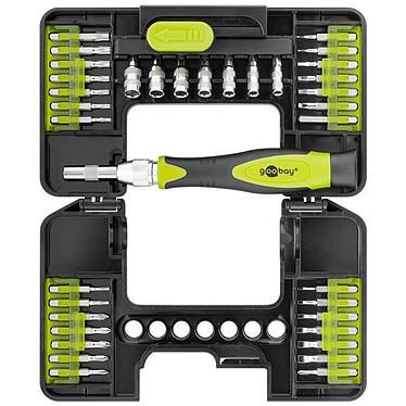 Goobay Kit de destornillador 37 piezas Juego de destornilladores de precisión 37 piezas para atornillar y montar