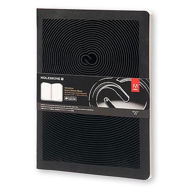 Moleskine Smart Sketch Album XL Plain Noir Carnet Album intelligent à couverture rigide très grand format avec technologie Creative Cloud