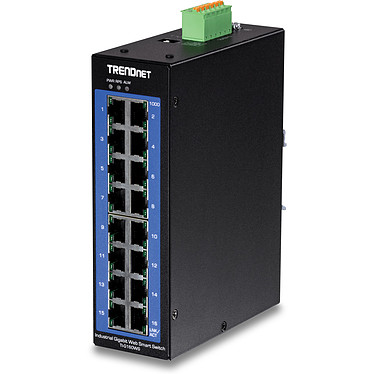 TRENDnet TI-G160WS Switch Rail DIN Gigabit industriel renforcé à 16 ports Ethernet Gigabit