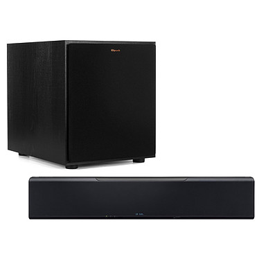 Yamaha MusicCast YSP-5600 + Klipsch R-100SW Barre de son 7.1.2 - Son surround 3D - Dolby Atmos/DTS:X - Multiroom - Wi-Fi/Bluetooth/AirPlay - DLNA - HDMI 4K60p HDCP 2.2 + Caisson de grave 150 Watts RMS Bass-Reflex