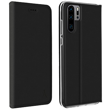 Akashi Etui Folio Porte Carte Noir Huawei P30 Pro Etui folio avec porte carte pour Huawei P30 Pro