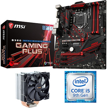 Kit Upgrade PC Core i5 MSI MSI B360GAMING PLUS Carte mère Socket 1151 Intel B360 Express + CPU Intel Core i5-9400F (2.9 GHz / 4.1 GHz) + ventirad