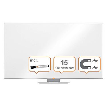 """Nobo Pizarra Blanco Nano Clean Nobo Widescreen 70"""" Pizarra blanca de 70"""" de ancho y pantalla magnética borrable 1561 x 883 mm"""