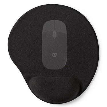 Nedis MPADFG100BK Tapis de souris Soft Gel avec support poignet