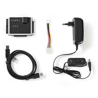"""Nedis Adaptateur USB 3.0 vers IDE/SATA pour HDD/SSD 2.5""""/3.5"""" pas cher"""