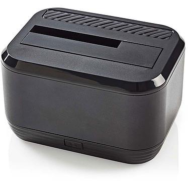 """Nedis Station d'accueil HDDUSB3200BK Station d'accueil pour disques dur SATA 2.5"""" et 3.5"""" sur port USB 3.0 (Noir)"""