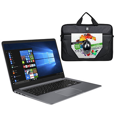 "ASUS Vivobook S15 S501UA-EJ763T + souris USB et sacoche PORT Designs Polaris OFFERTS ! Intel Core i5-8250U 8 Go SSD 128 Go + HDD 1 To 15.6"" LED Full HD Wi-Fi AC/Bluetooth Webcam Windows 10 Famille 64 bits (garantie constructeur 2 ans)"