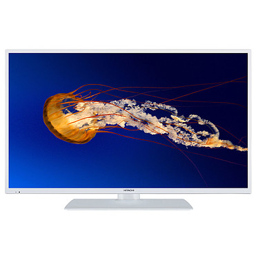 "Hitachi 43HK6001W Blanc Téléviseur LED 4K Ultra HD 43"" (109 cm) 16/9 - 3840 x 2160 pixels - HDR - Wi-Fi - Bluetooth - 1200 Hz - Son 2.0 16W"